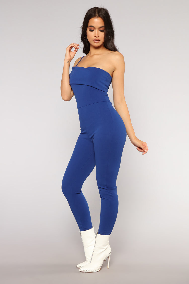 Stay Ready Jumpsuit - Royal
