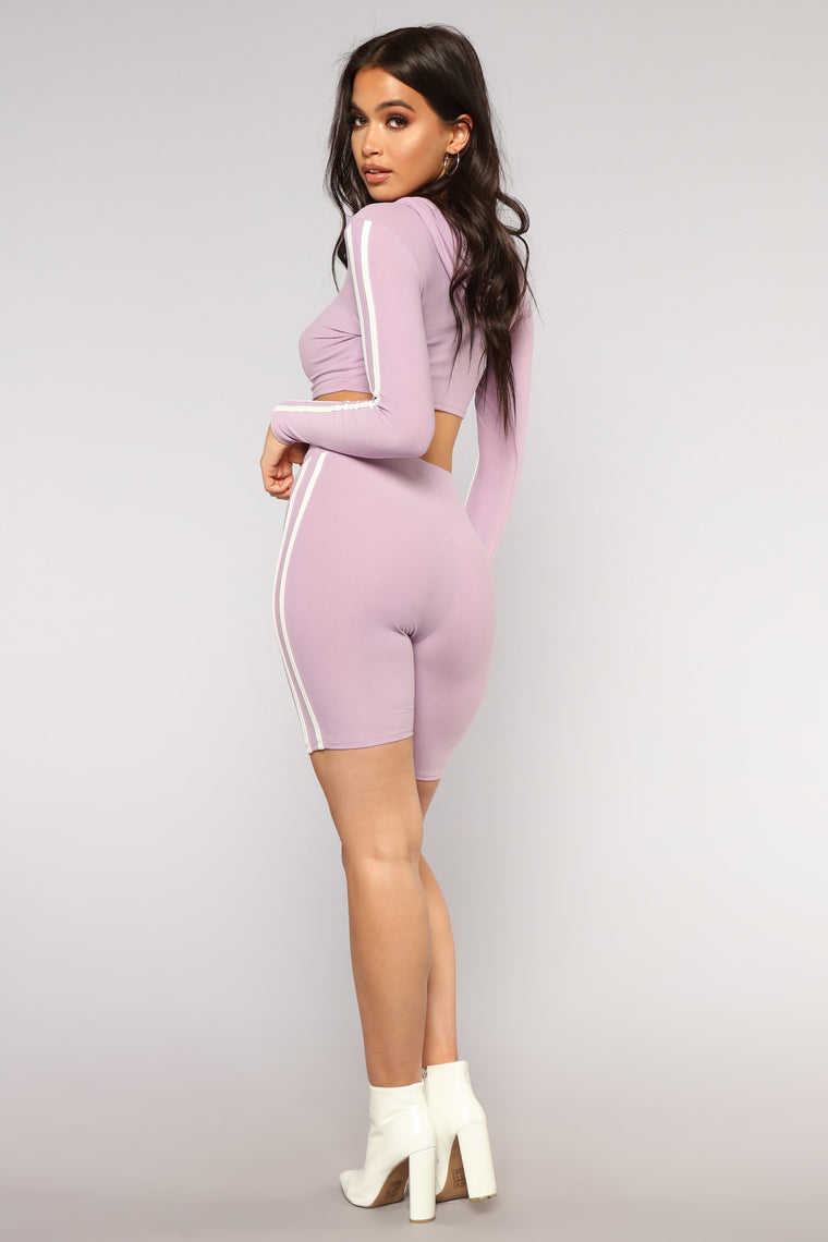 Time For Tennis Long Sleeve Set - Lilac