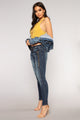 One To Lose Skinny Jeans - Medium Blue Wash
