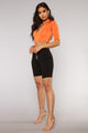 Too Fast Athleisure Set - Orange/Black