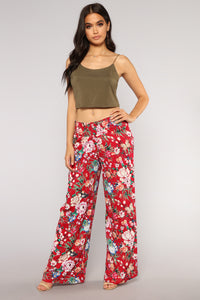 Your New Favorite Print Pants - Red