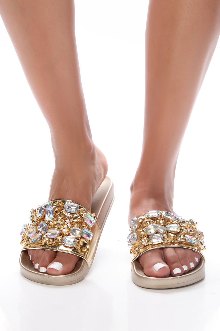 Take A Look Around Flat Sandals - Gold
