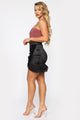 Bittersweet Ruffle Mini Skirt - Black
