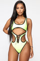 Boracay Island Swimsuit - Neon Yellow/Black