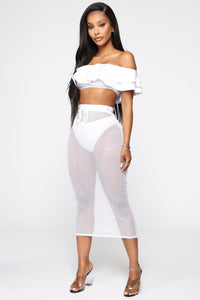 Yacht About It 3 Piece Swimsuit - White Angle 2