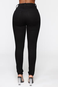 High Waisted Skinnies - Black