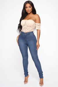 Lace Lover Bodysuit - Nude