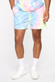 Color Me Up Short - Blue/combo