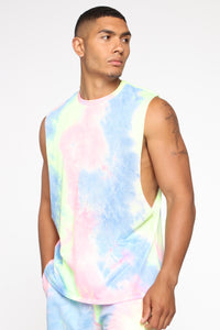 Color Me Up Muscle Tee - Blue/combo Angle 1