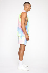 Color Me Up Muscle Tee - Blue/combo