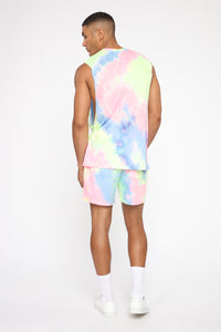 Color Me Up Muscle Tee - Blue/combo Angle 5