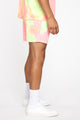 Mixed Feelings Tie Dye Short - Pink/combo