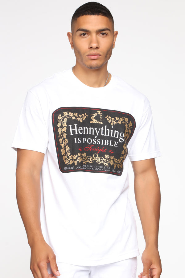 acd31697fb7 Hennything Is Possible Short Sleeve Crew Tee - White combo