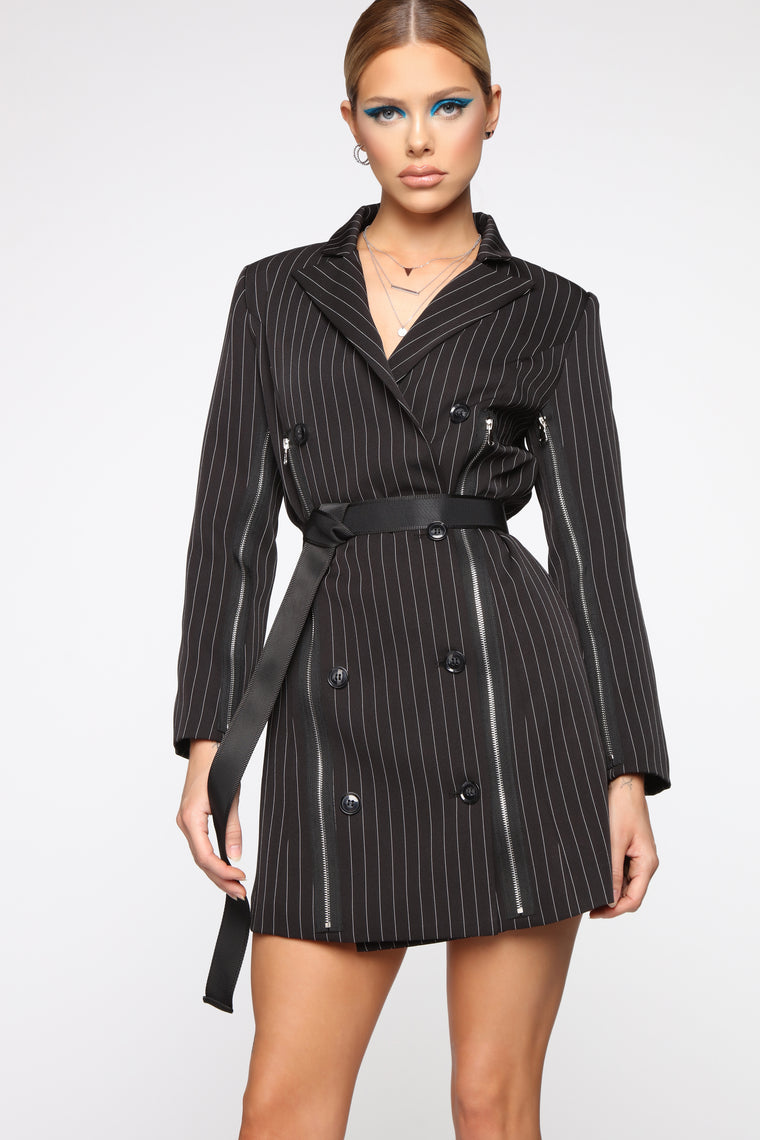 She Bad Blazer Dress - Black