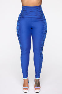 Just Statin' The Facts Pants - Cobalt