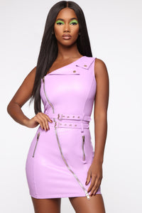 Ooh Damn I'm Fine Mini Dress - Lavender