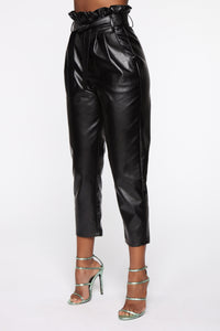 All My Leather Pants - Black Angle 4