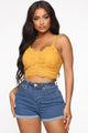 Hey Sis Crop Top - Mustard