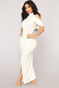 Look Beyond The Pearls Dress - White Angle 1