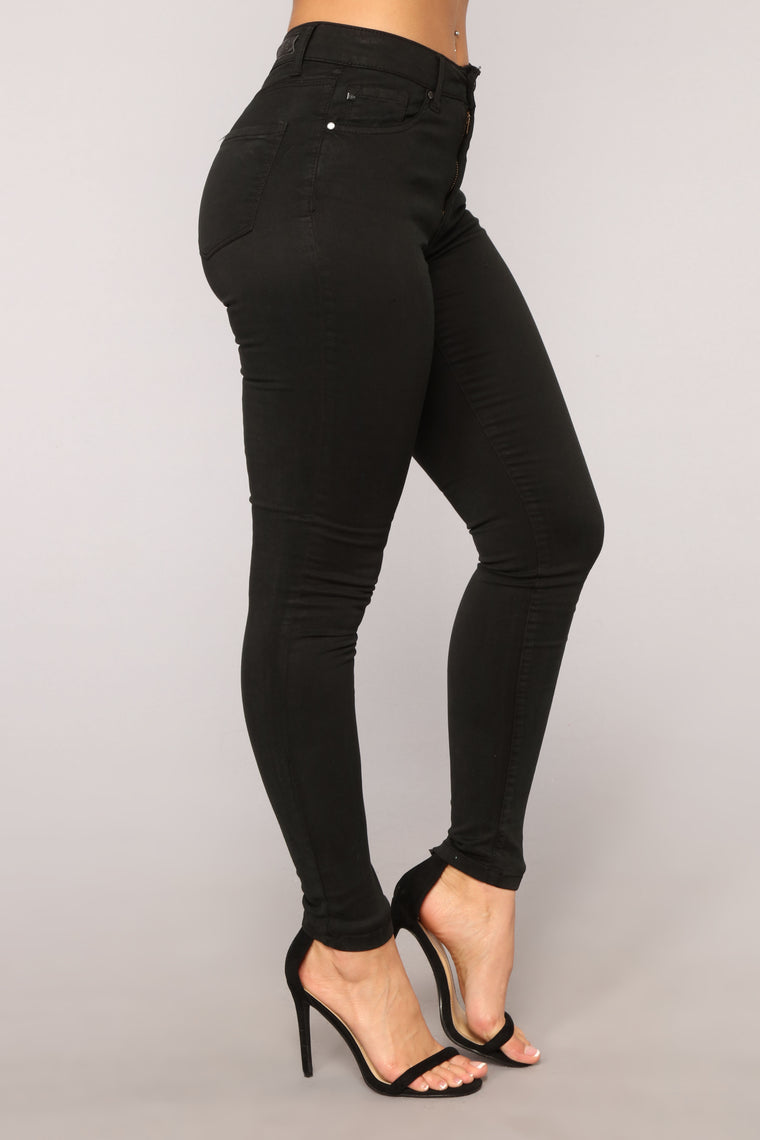 Work This Out Skinny Jeans - Black