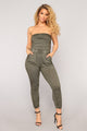 Swoop In Jumpsuit - Olive