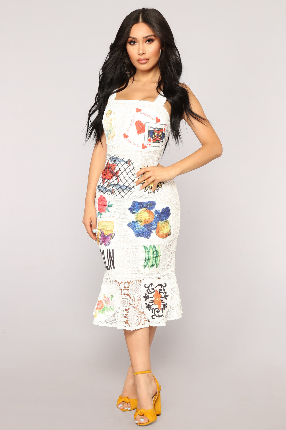 Monte Carlo Dress - White