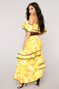 Lilianna Ruffle Set - Yellow