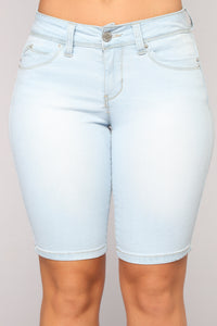 Valley Lows Denim Bermudas - Light Wash