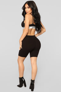 Natalee Biker Shorts - Black