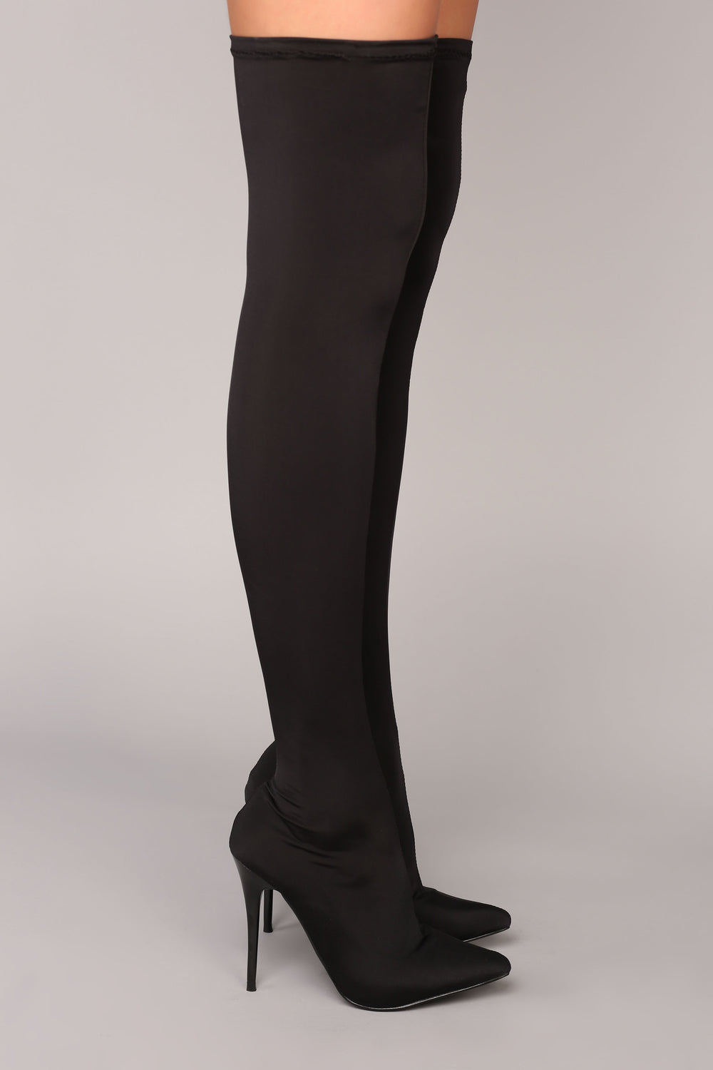 For A Little Fame Over The Knee Boot - Black