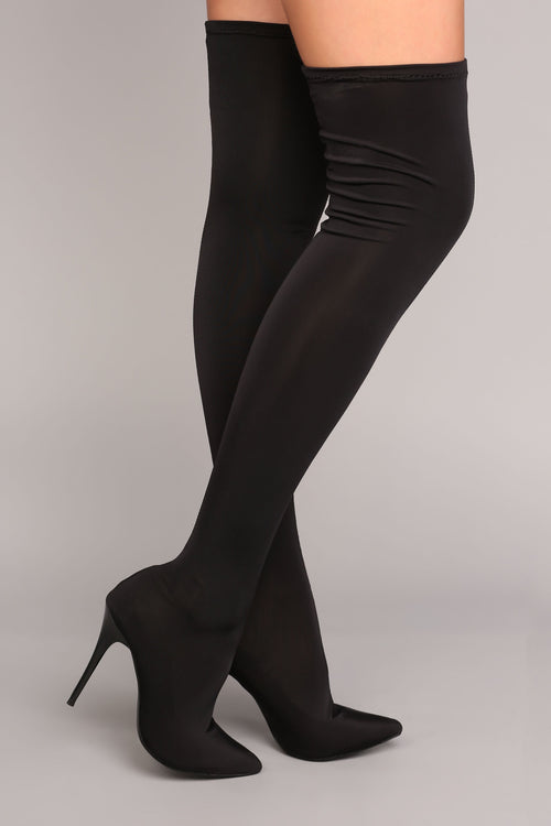 d6fefb0dae7 For A Little Fame Over The Knee Boot - Black