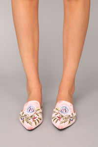 Embroidered With Love Slide - Blush