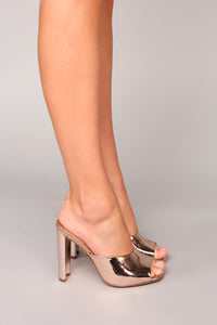 Emotionally Unavailable Heel - Rose Gold Angle 6