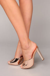 Emotionally Unavailable Heel - Rose Gold Angle 2