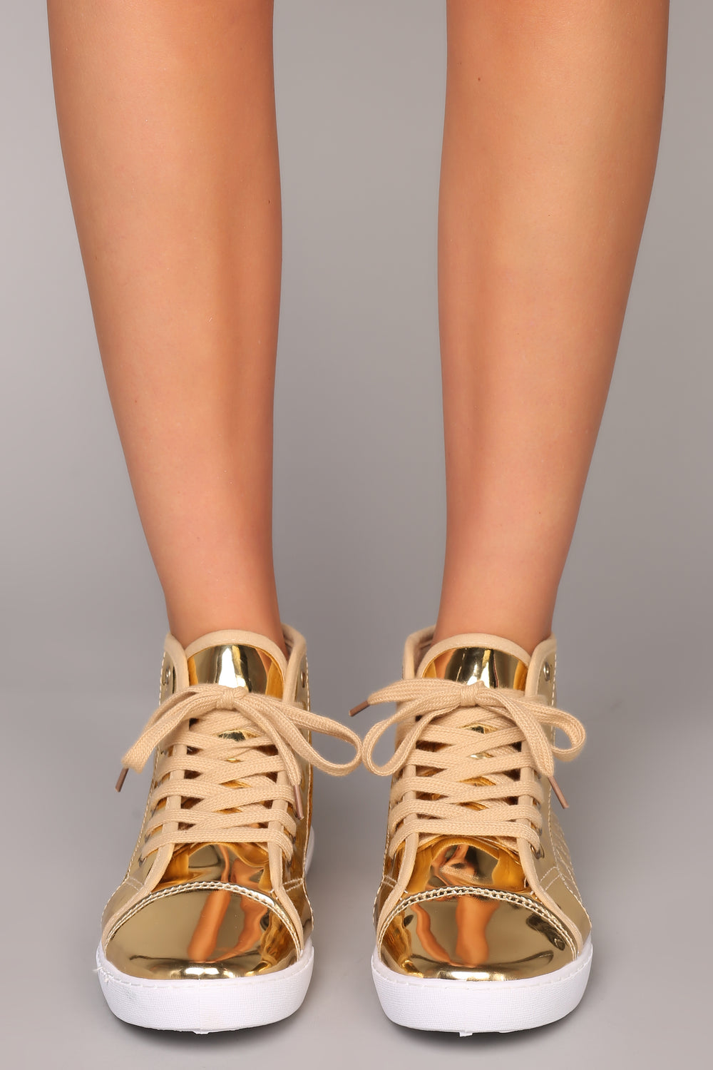 Quilt An Empire Sneaker - Gold