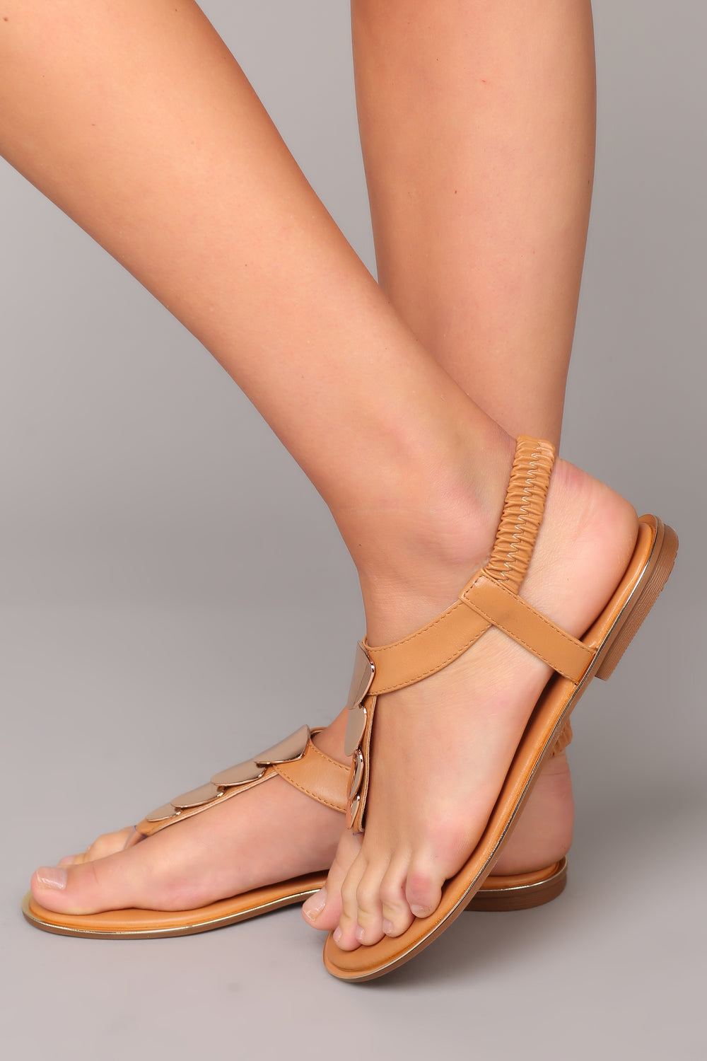 All Gold Sandal - Tan