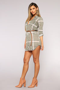 Thru The Woods Tunic Dress - Sage
