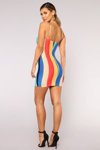 On Your Mind Striped Dress - Multi