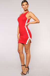 Snapshot Dress - Red Angle 1