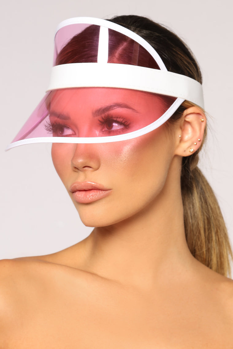 Clear Visions Visor - Pink