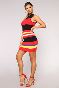A Bad Case of Stripes Dress - Multi