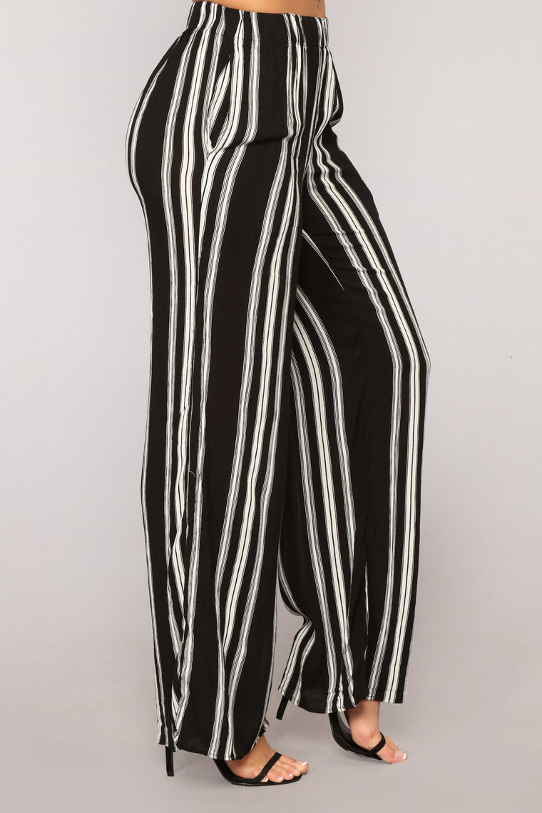 Island Girl Pants - Black Stripe