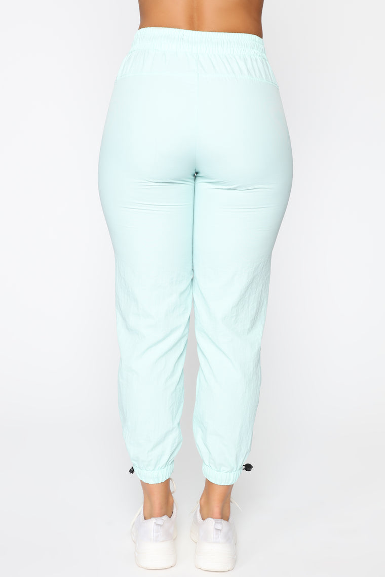 On The Go Drawstring Joggers - Mint