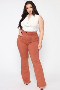 Bell Bottom Blues Jeans - Brown