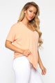 Give Me Tea Oversized Tee - Peach