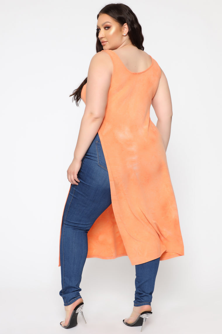 Out And About Maxi Top - Coral