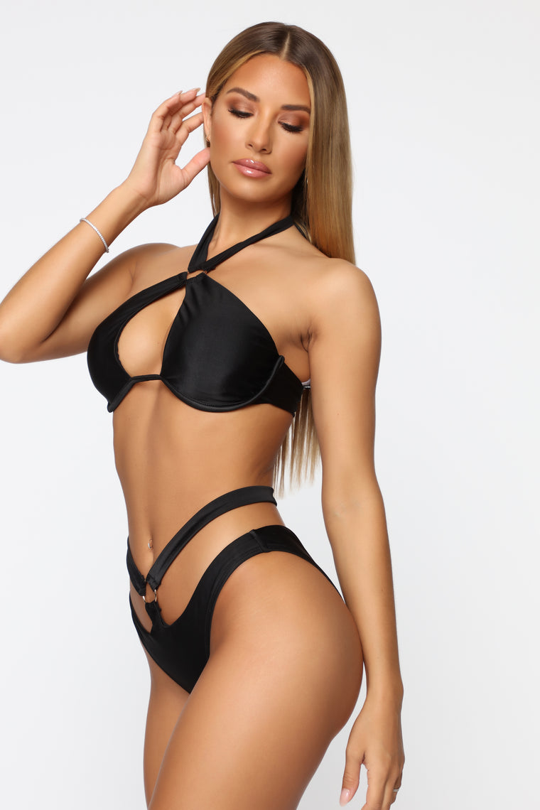 Soak It In Underwire Bikini - Black