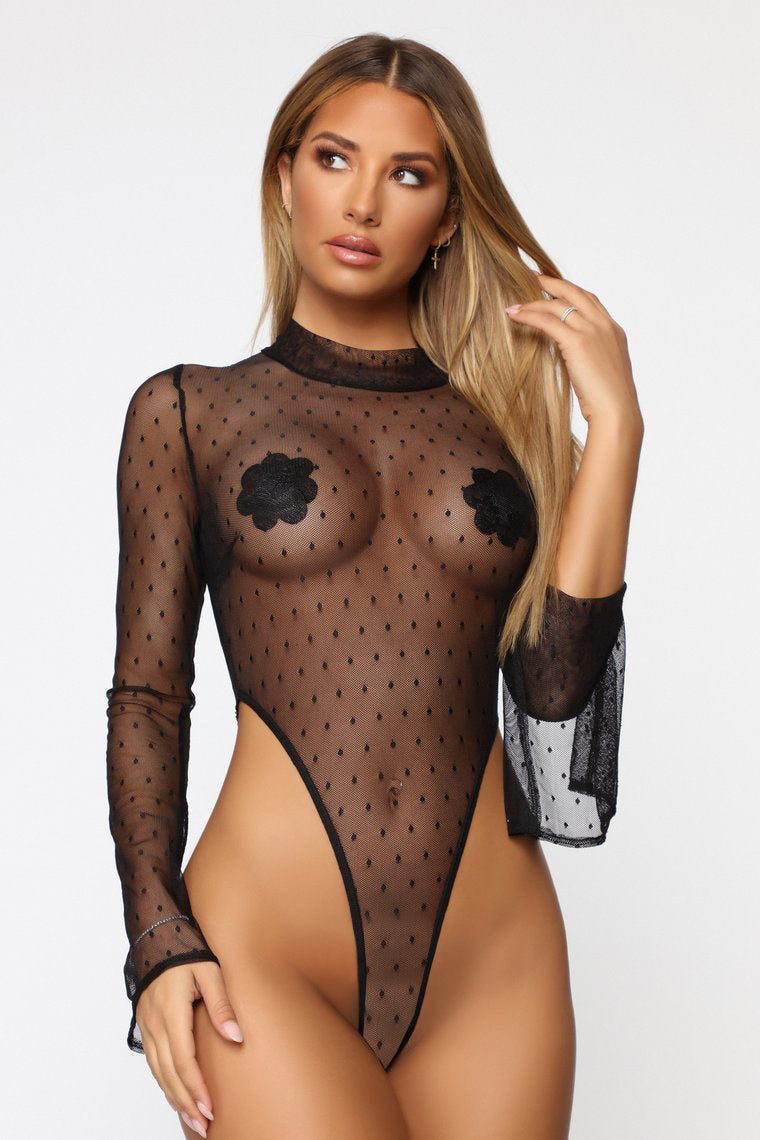 Out In Ibiza Bodysuit - Black