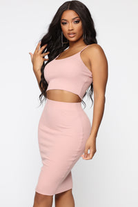 A Simple Feeling Skirt Set - Pink