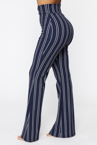 Flare Games Stripe Pants - Navy/White